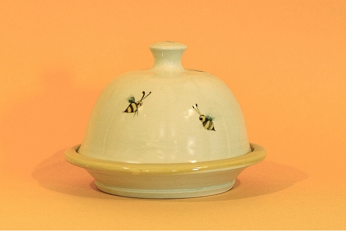 Forks Road Pottery With Hand Painted Honey Bee Decoration